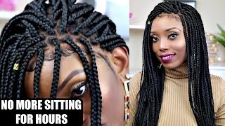 SIS  CANT BOX BRAID?THIS BOX BRAIDS WIG WILL CHANGE YOUR LIFE NEAT & SLEEK