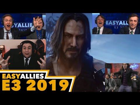 Cyberpunk 2077 w/ Keanu Reeves - Easy Allies Reactions - E3 2019