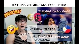 [REACTION] HIGHEST! GRABE SI KATRINA VELARDE - All By Myself Challenge | GGV | #JANGReacts