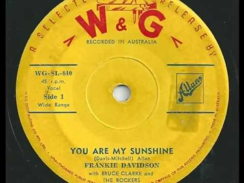 Frankie Davidson - You Are My Sunshine - 1959 - W&G WG-SL-840