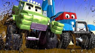 Xe tải xe Jeep - Siêu xe tải Carl 🚚⍟ những bộ phim hoạt hình về xe tải l Vietnamese Cartoons