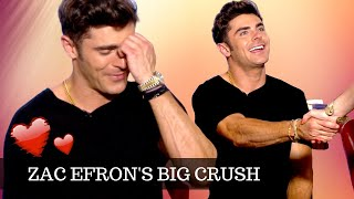 ZAC EFRON On His BIG Celebrity Crush ★  and how he deals with Instagram fans ★