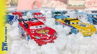 Disney Pixar Cars Diecast Toys Part 18 ICE Racers Mcqueen New カーズ 2016