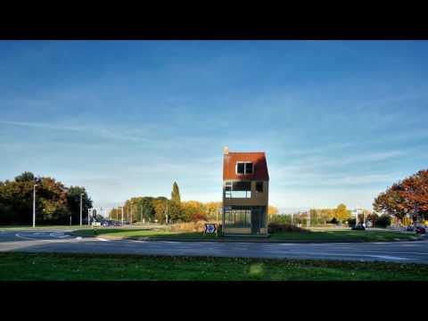 Timelapse draaiend huis Tilburg