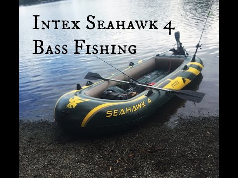 Intex Seahawk 4   Inflatable Boat Bass Fishing