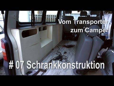 VW T5 vom Transporter zum Vanlife Camper Umbau Innenausbau Schränke Konstruktion #007