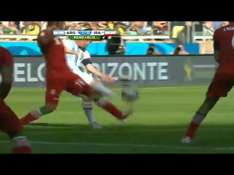 argentina vs iran messi goal world cup 2014