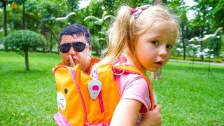 Funny Compilation videos for kids about Nastya and her papa Pretend play