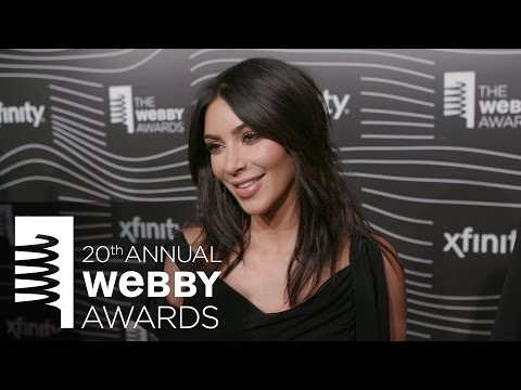 Kim Kardashian West on the Red Carpet at the 20th Annual Webby Awards.