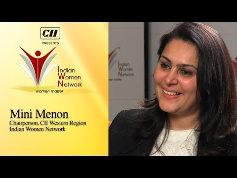 Mini Menon, Chairperson, Cii Western Region, Indian Women Network video
