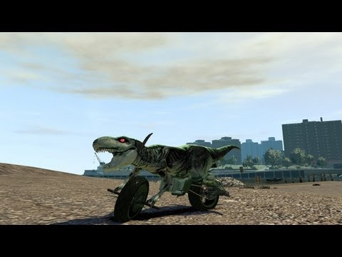 Grand Theft Auto IV - T-REX Motorcycle (MOD) HD