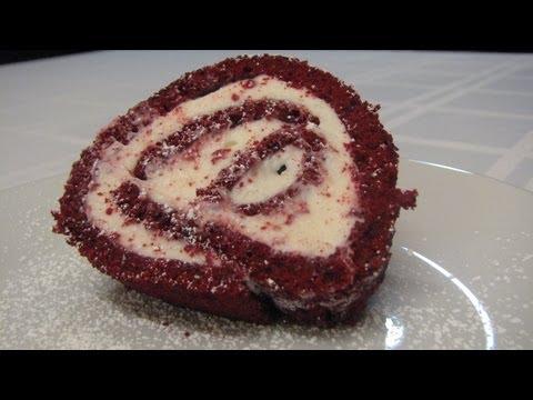 Red Velvet Cake Roll -- Lynn's Recipes Valentine's Day