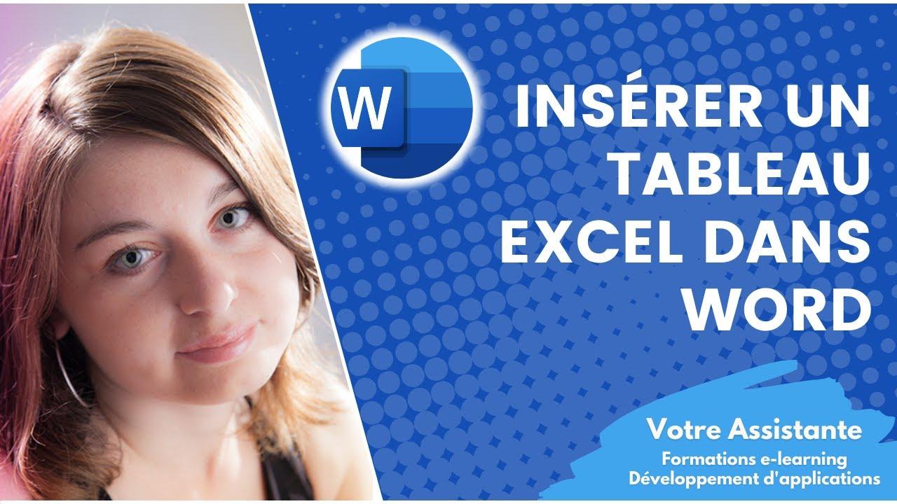 ins u00e9rer un tableau excel dans un document word