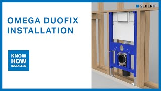 Geberit concealed cisterns - Duofix Omega cistern installation