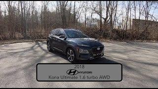 2018 Hyundai Kona Ultimate AWD|Walk Around Video|In Depth Review|Test Drive