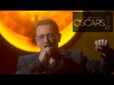 U2 Performance 'Ordinary Love' at Oscars 2014 - A Tribute To Nelson Mandela
