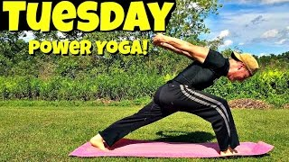 Tuesday - Power Yoga Strength and Focus Routine - 7 Day Yoga Challenge #poweryoga