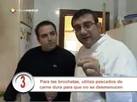 Sos cocinero: Sergio prepara brochetas de rape con salsa de queso