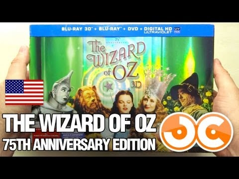 Blu ray 2d 3d the wizard of oz 75th anniversary limited collector 39 s edition usa youtube - The wizard of oz hd ...