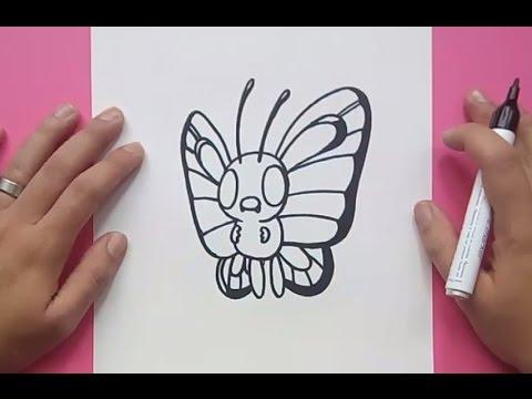 Como dibujar a Butterfree paso a paso - Pokemon | How to draw Butterfree - Pokemon