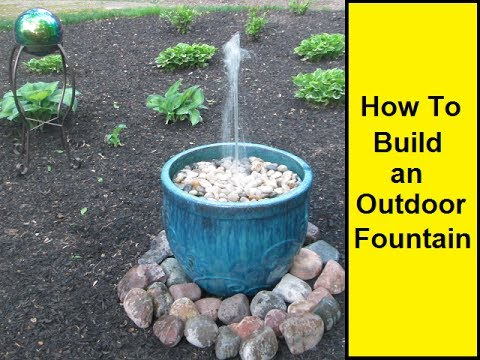How to make an outdoor fountain youtube for Making a water garden