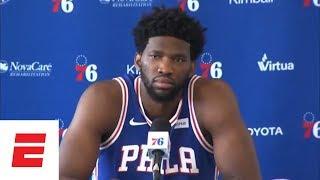 Joel Embiid Philadelphia 76ers Media Day press conference | ESPN