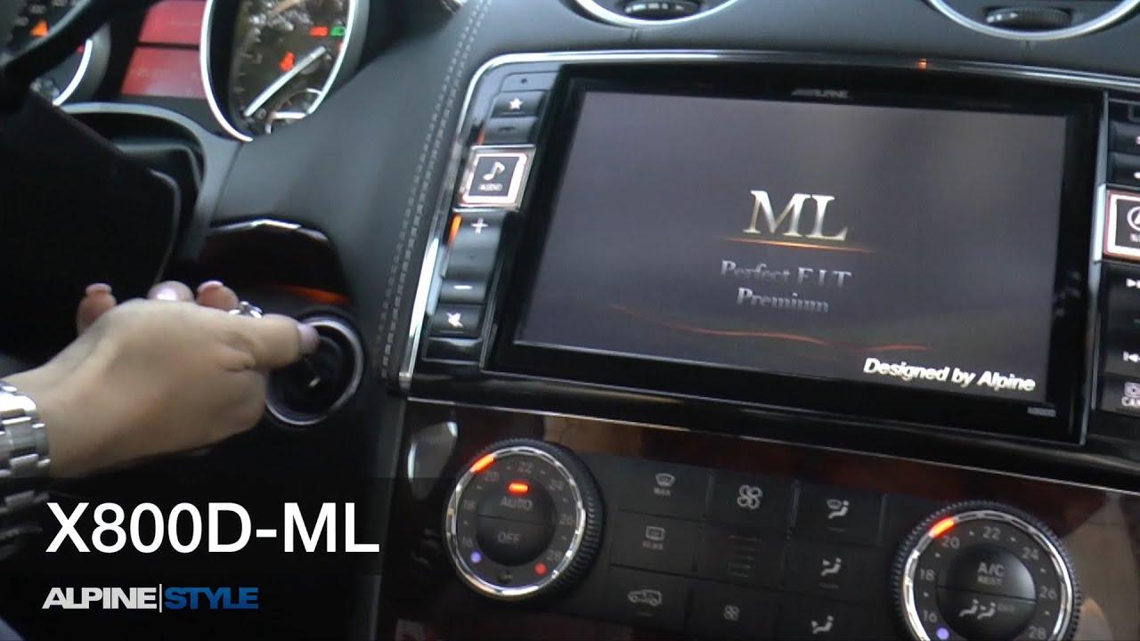 X800d ml mercedes ml w164 gl x164 navigation sound for Mercedes benz music system