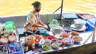Thailand Street Food Amphawa Floating Market