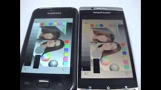 Sony Ericsson Arc  VS. Samsung Galaxy S display quality