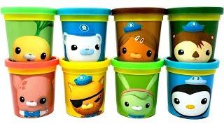 8 Play-Doh The Octonauts Toys Barnacles Kwazii Peso Shellington Dashi Inkling Tweak Tunip
