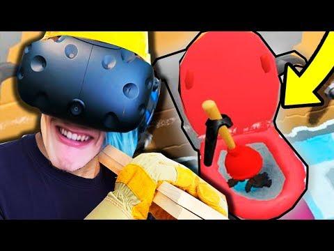 ПОСТРОИЛ УНИТАЗ В КОМНАТЕ!! (HOUSE FLIPPER VR)