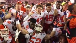 The Clemson sideline the moment they became national champions.