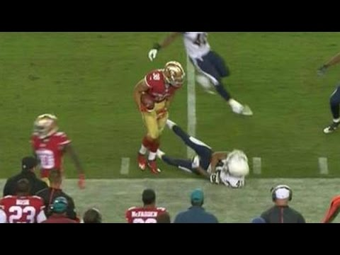 NFL: Jarryd Hayne Offensive Hit Vs San Diego Chargers