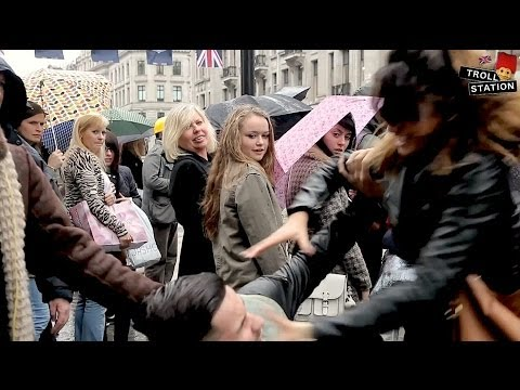 Girl Slapping Boy In Public Prank video