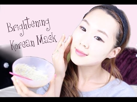 DIY Korean Brightening Clear Skin Face Pack Recipe ♥ 뽀샤시 피부 만들기✯