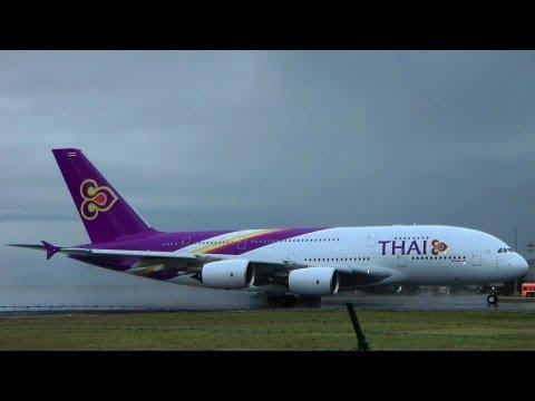 A380 First Flight Frankfurt Bangkok Thai Airways – 16 December 2012 (HD 1080p)