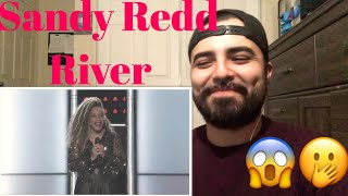 Reaction to SandyRedd River Blind Audition The Voice USA