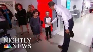 Lester Holt's Biggest Little Fan, Jaden, Pays A Visit To 30 Rock | NBC Nightly News