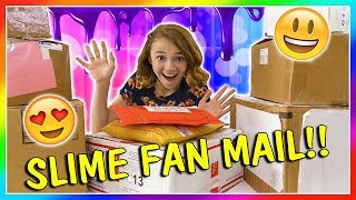 OPENING SLIME FAN MAIL!   We Are The Davises