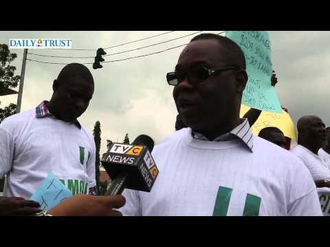 Group protest against corruption in Nigeria