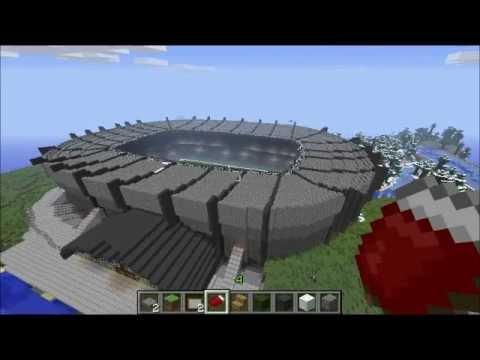 Parc des princes construction minecraft youtube - Video minecraft construction ...