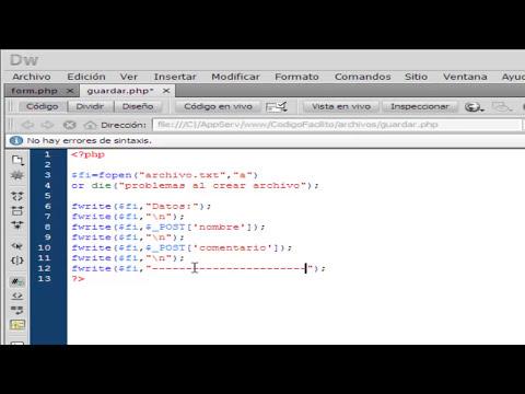 Guardar Archivos de Texto en PHP