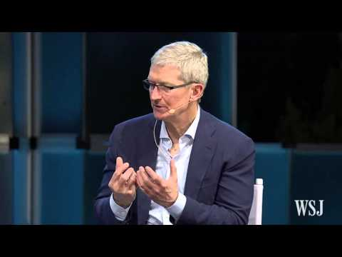 Tim Cook at WSJDLive on Relationships With Artists