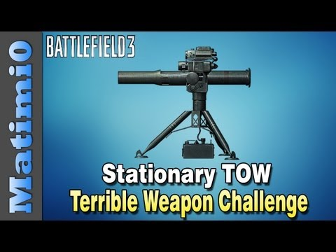 Stationary TOW - Terrible Weapon Challenge (Battlefield 3 Gameplay/Commentary)