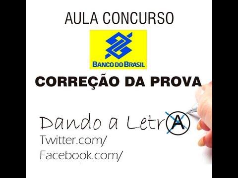 Correção da Prova Jan. 2013 - Banco do Brasil