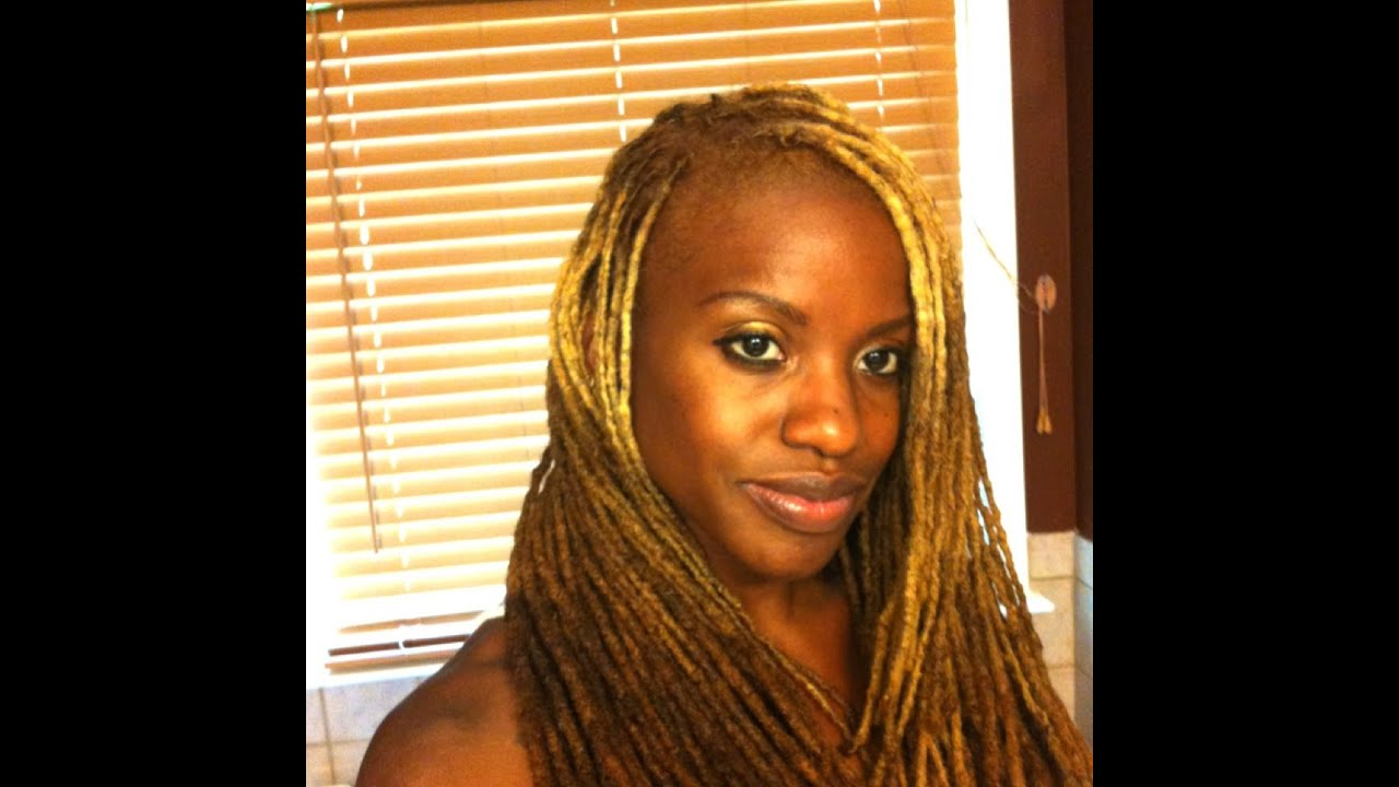 I Dyed My Locs A New Color Youtube