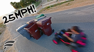 HUMAN BOWLING WITH TOY JEEP!