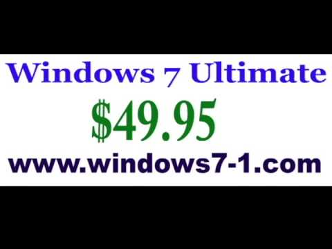 Buy Microsoft Windows 7 Ultimate Corporate System Builder Version DVD Cheap $49.95