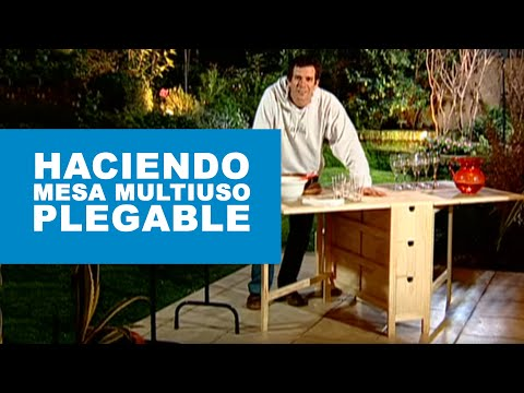 C mo hacer una mesa multiuso plegable youtube - Mesas plegables a la pared ...