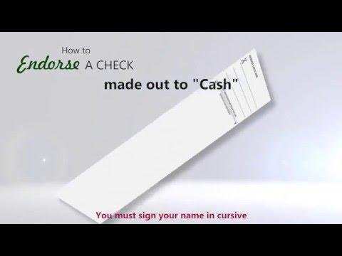 How to Endorse a Check